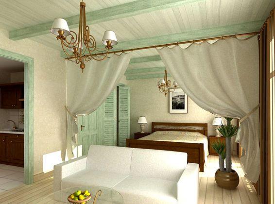 Салатовый и кремовые цвета как нельзя лучше подойдут для спальной зоны