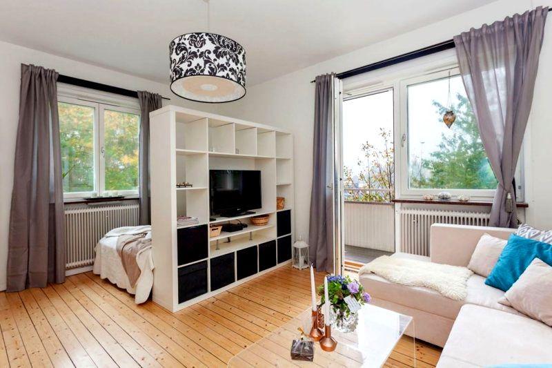 Наглядный пример разделения на гостиную и спальню