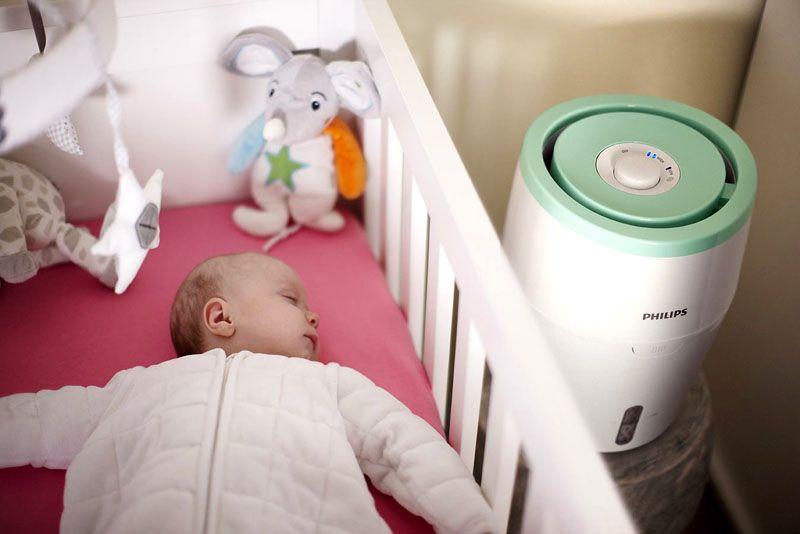 Малыши особенно чувствительны к сухому воздуху