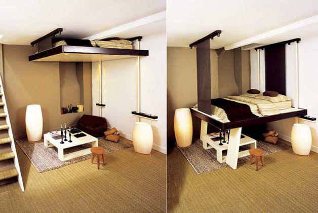 Кровать-трансформер, которая крепится к потолку, – теперь вы выдели всё