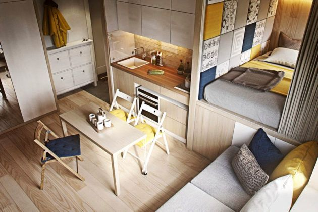 Такая квартирка прекрасно подойдёт для молодой студенческой семьи