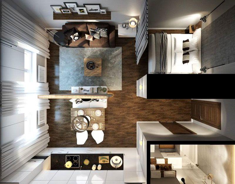 Планировка квартиры-студии до30 кв.м.