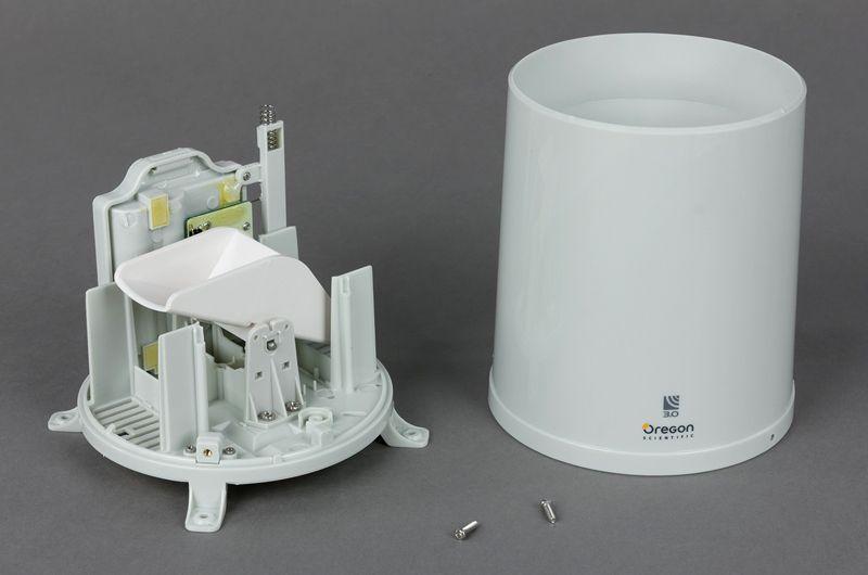 Измеритель осадков, внешний корпус «чаша» и внутренний механизм