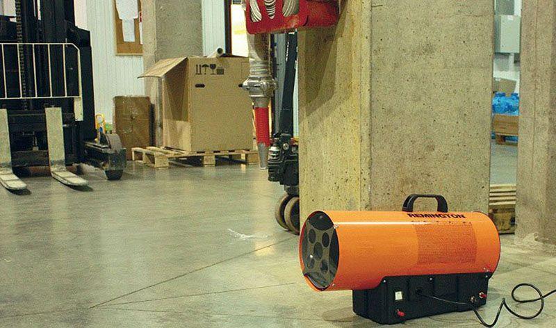 Электрическая пушка в гараже – быстрый и эффективный нагрев помещения, но большое потребление электроэнергии
