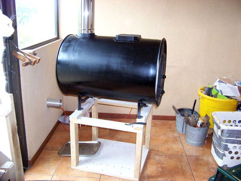 Дровяная печка из двухсотлитровой бочки