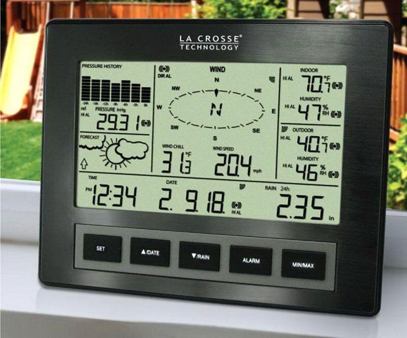 Профессиональная метеостанция La Crosse с круговой диаграммой направления ветра