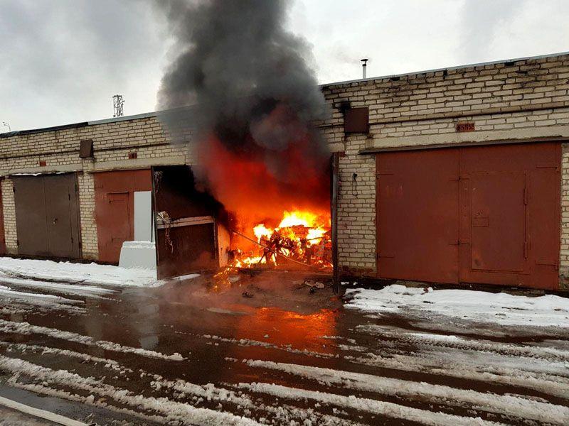 Пожар в гараже – не редкость, соблюдайте правила и требования пожарной безопасности