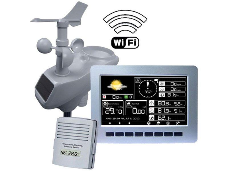 Модель AcuRite 02027 Color Weather Stationwith считается одной из наиболее удачных погодных станций с барометром, аэрометром, измерителем ИК-излучения и уровня осадков