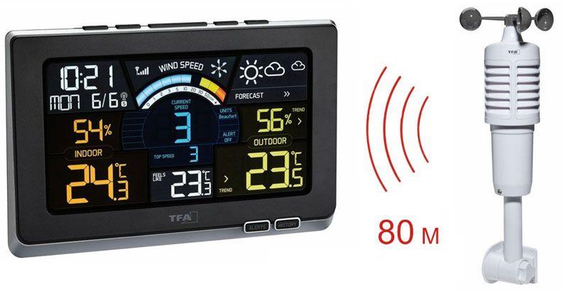 Домашняя беспроводная метеостанция, модель TFA 35114001 Spring Breeze
