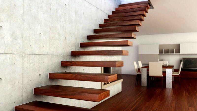 Лестница на больцах без дополнительных подставок и других элементов