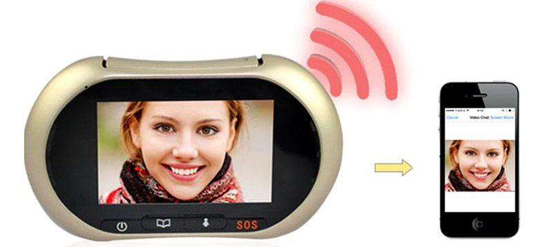 IP-видеоглазок передаёт информацию через интернет на расстояния
