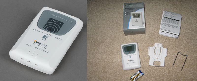 Внешний датчик температуры и влажности и его комплектация