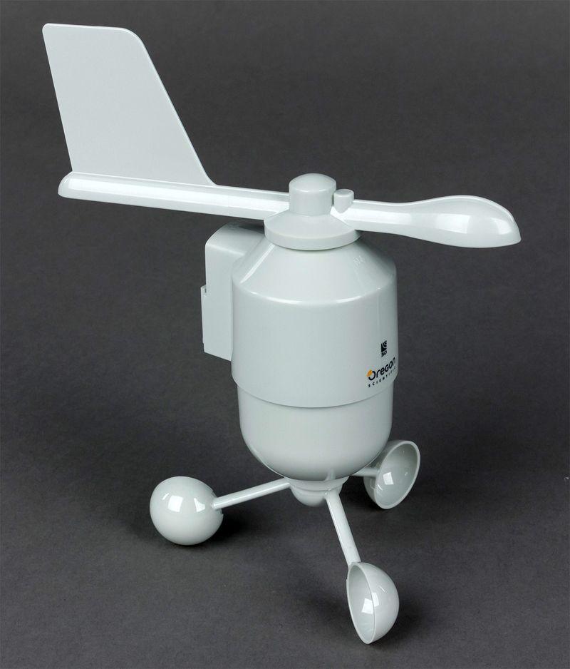 Внешний чашечный анемометр с флюгером для измерения силы и скорости ветра