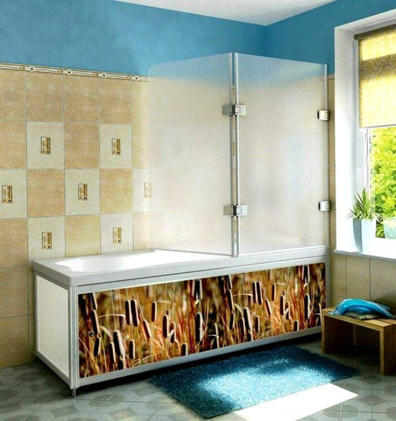 Конструктивное исполнение ширмы-перегородки прорабатывается для конкретной ванной комнаты