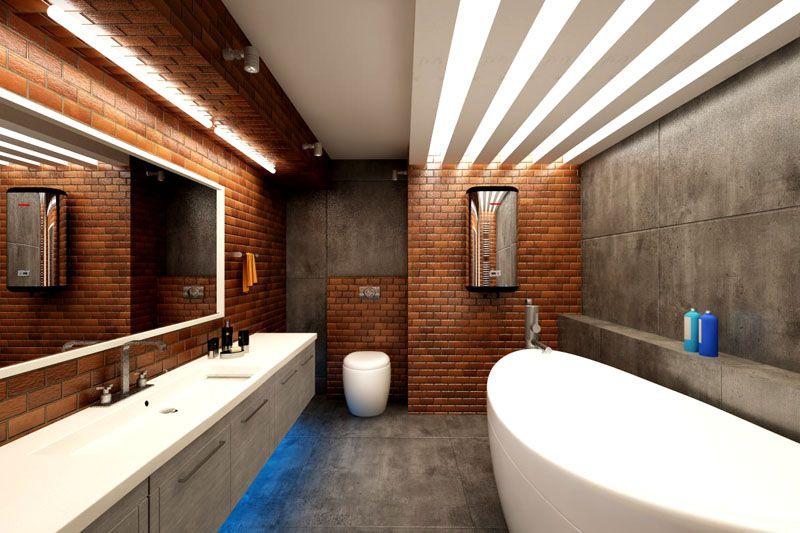 Независимо от стиля, в ванной должно быть хорошее освещение