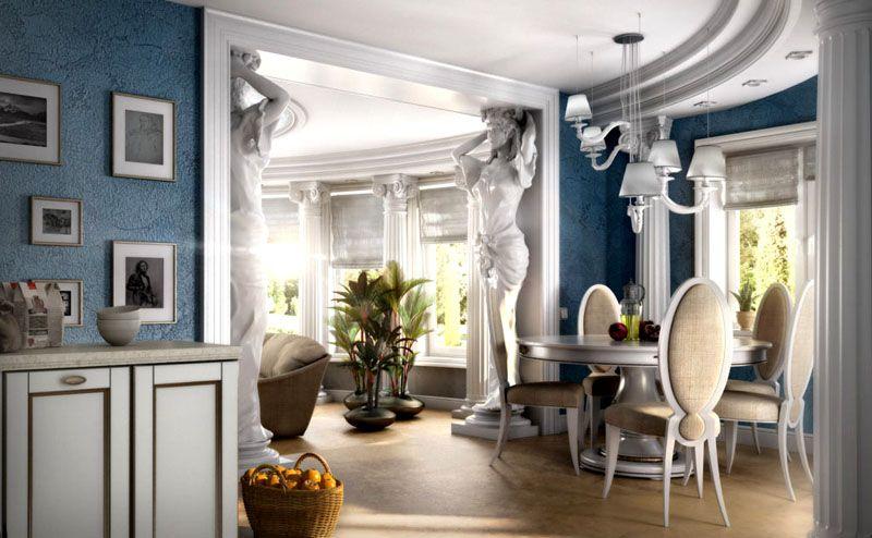 Скульптуры и колонны – признак греческого стиля