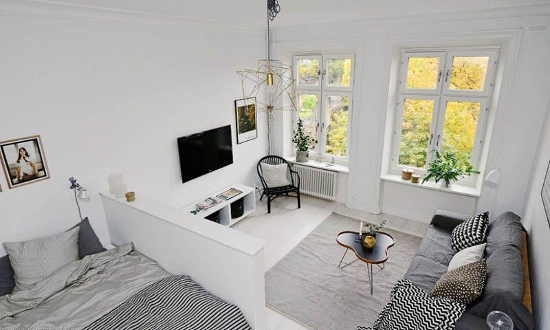 Фото интерьера малогабаритной квартиры в скандинавском стиле