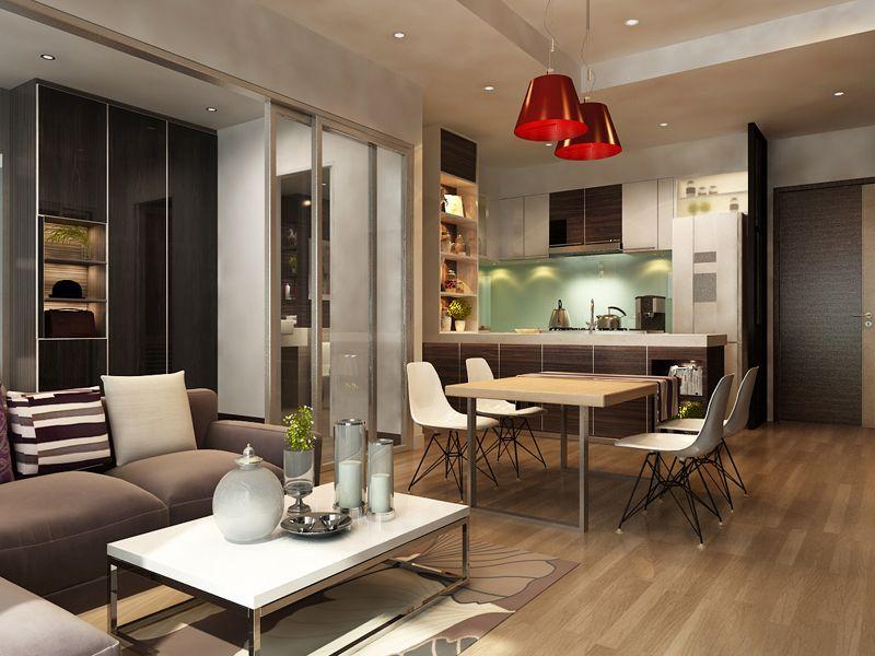 Фото дизайна кухни-гостиной в 18 м²