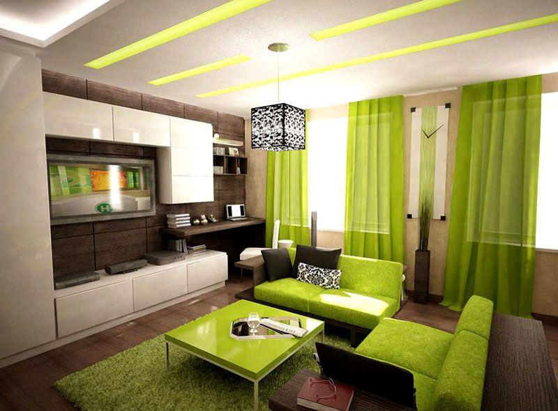 Интерьер гостиной в 18 м² в современном стиле