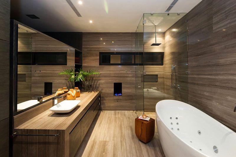 Фото современной идеи интерьера ванной комнаты 2017 года