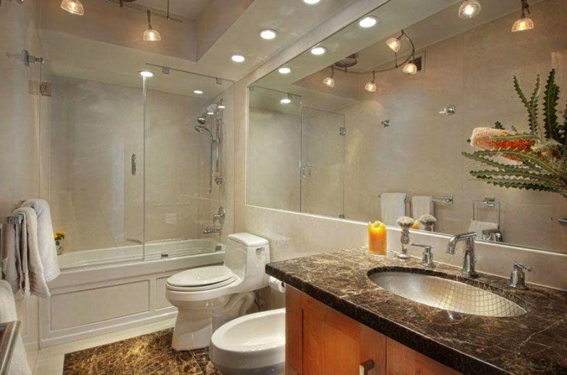 Виды используемых светильников зависят от уровней потолка