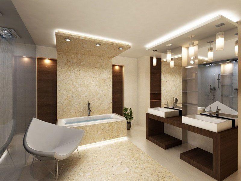 В зоне ванной светильники должны оснащаться закрытыми плафонами