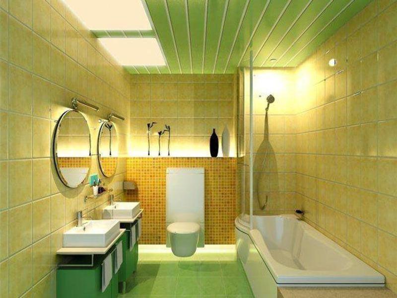Пластиковые панели часто используют для отделки потолка