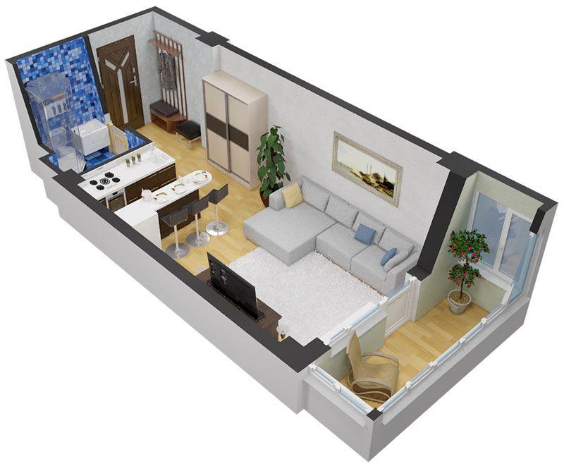 Фото дизайна кухни, совмещённой с залом
