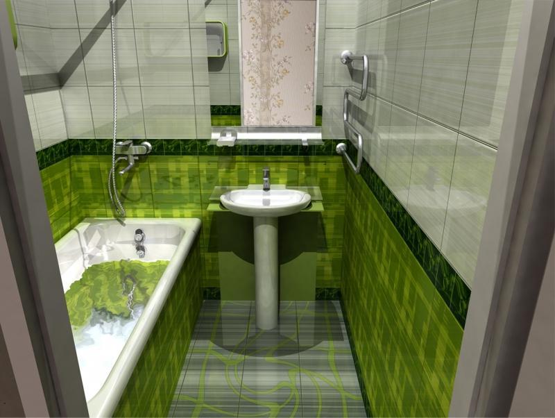 Фото одного из проектов дизайна ванной комнаты, который можно выполнить в специальной программе