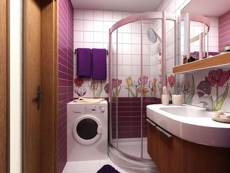Проект ванной комнаты небольших размеров