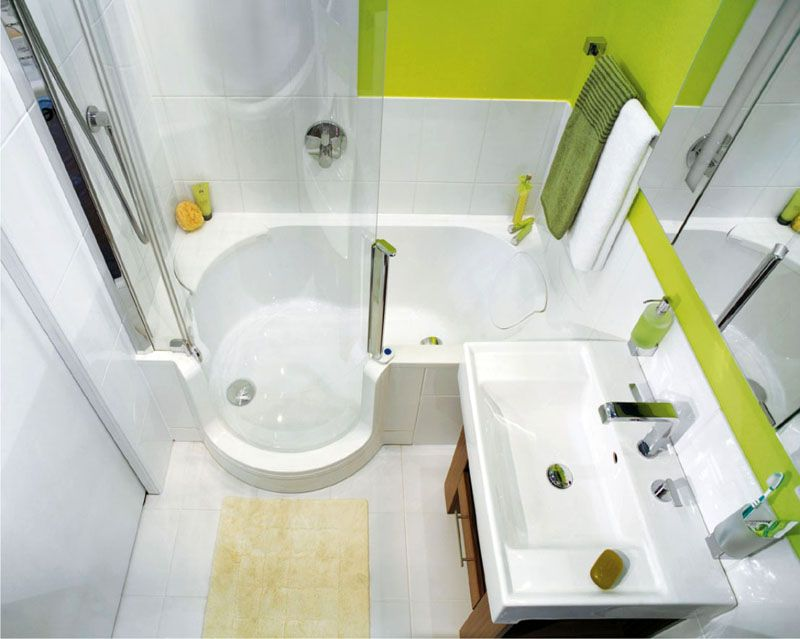 Оригинальная комбинация ванны и душевой кабинки