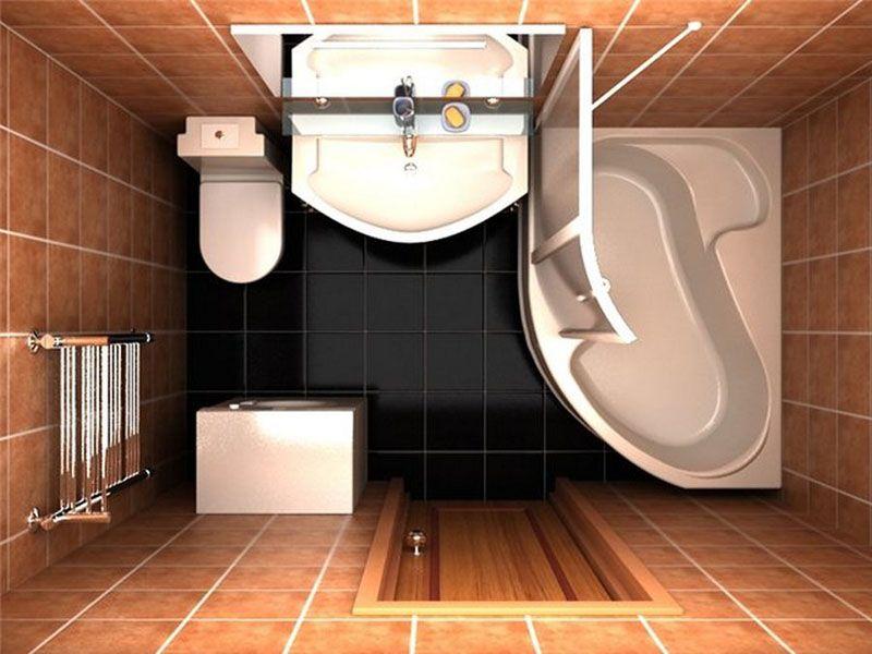 Угловая ванна − отличное решение для экономии пространства