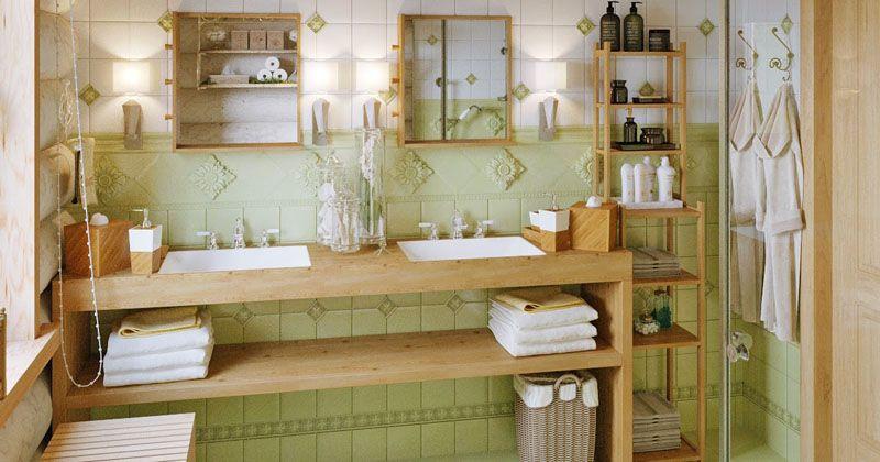 Все элементы из дерева в ванной комнате должны обрабатываться специальным защитным составом