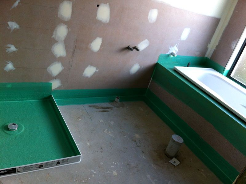 Выравнивание стен и пола в ванной