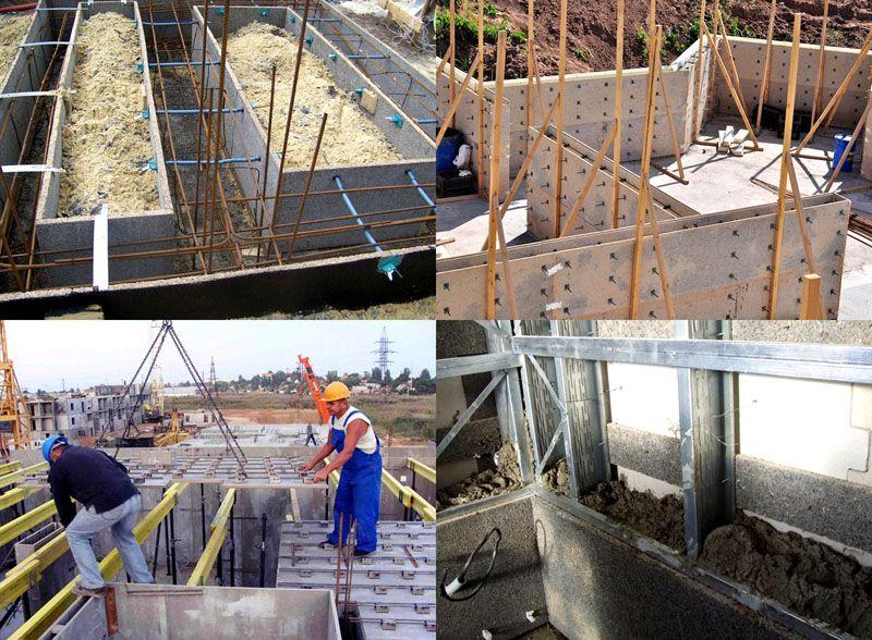 Монолитное строительство с использованием несъёмной опалубки из ЦСП