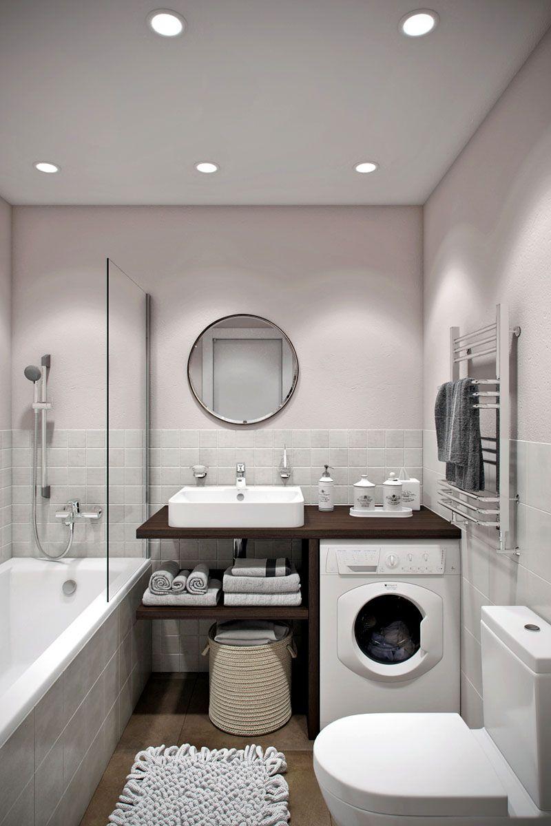 Хороший вариант дизайна ванной комнаты