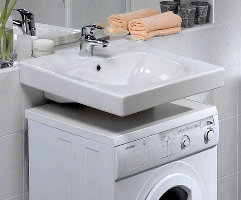 Один из вариантов расположения стиральной машинки