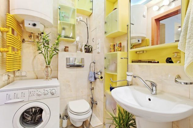 Фото ремонта ванной комнаты малых размеров − объединяем стиль и функциональность