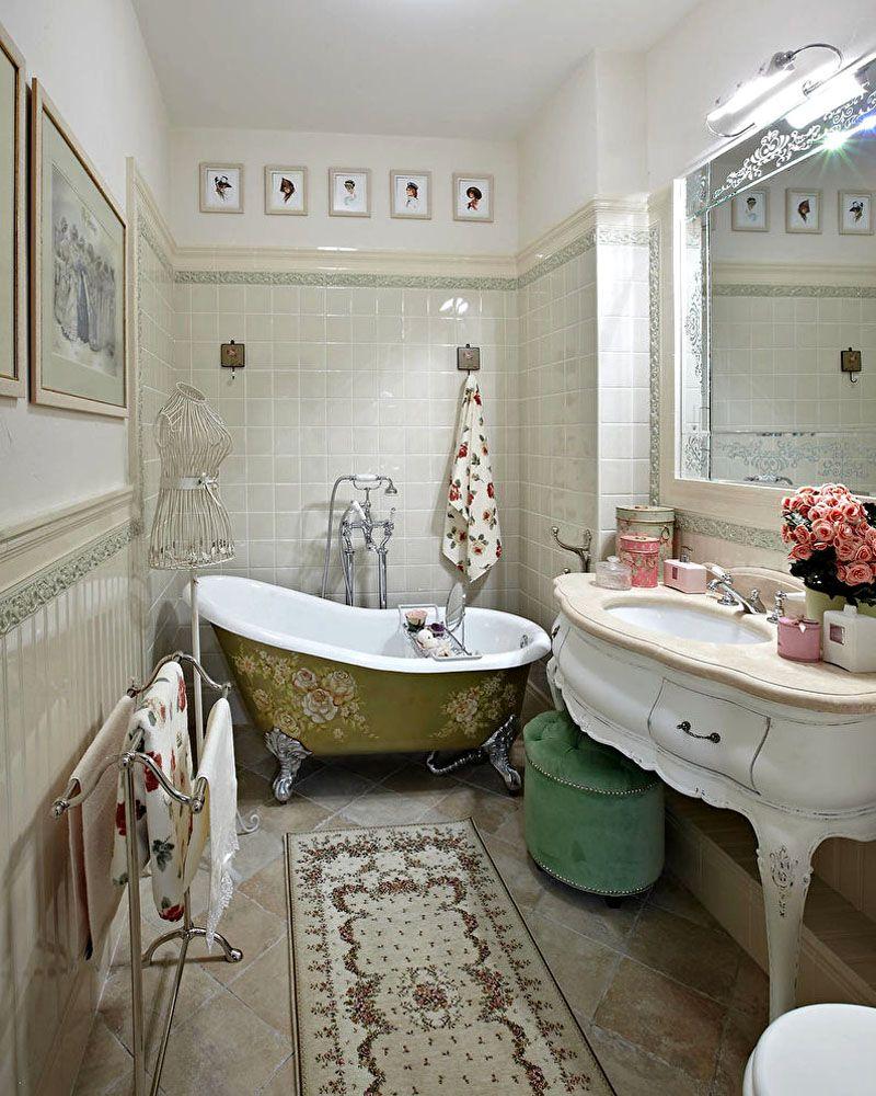 Ванна, мебель, полотенцедержатель – всё, что стоит на полу, должно иметь изящные ножки
