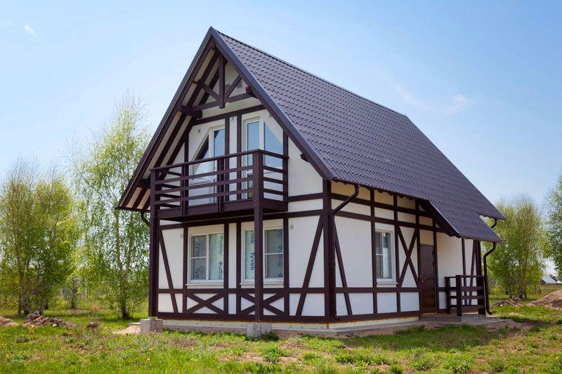 Фасад в стиле фахверк