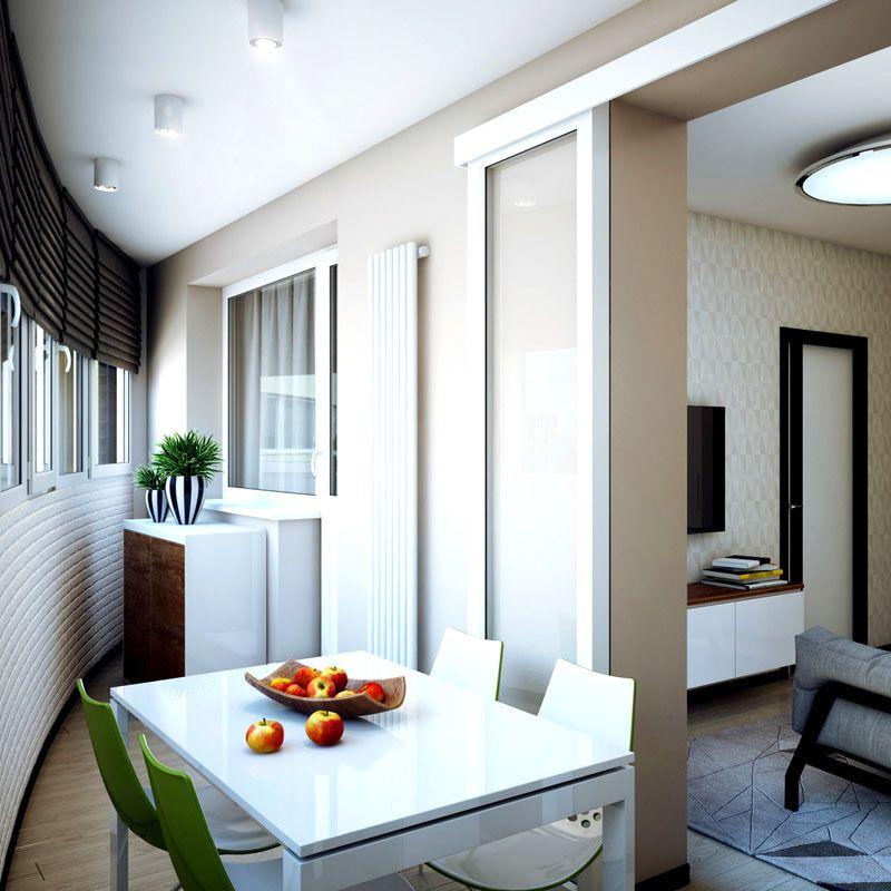 однокомнатные квартиры дизайн фото с балконом