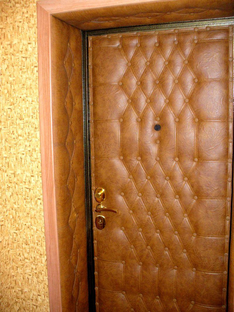 Дверь, укрытая слоем искусственной кожи