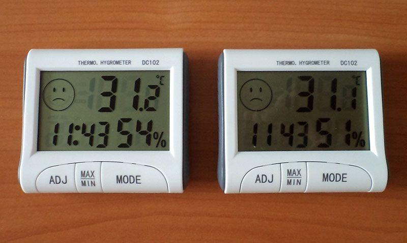 Влажность – это то, что измеряет гигрометр, к тому же электронные модели могут показывать время и температуру