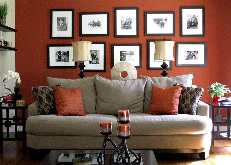 Терракотовый цвет в интерьере: фото