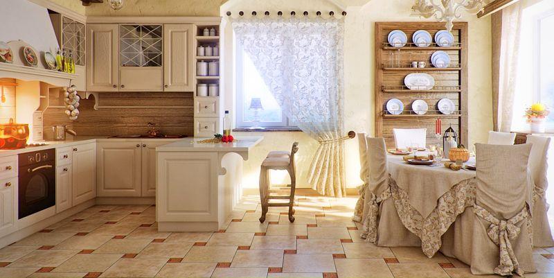 Модные, оригинальные и современные: шторы на кухню, фото 2017−2018 гг.
