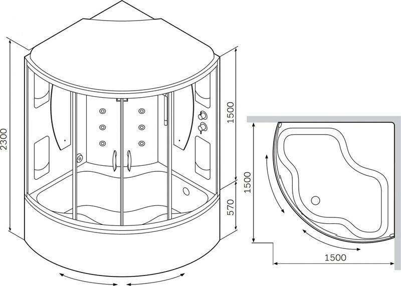 Конструкция «четверть круга» наиболее компактна