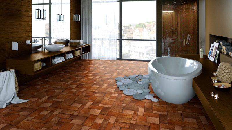 Один из вариантов оформления ванной