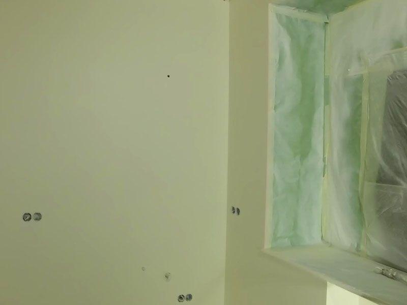 Стены, подготовленные под оклейку обоями