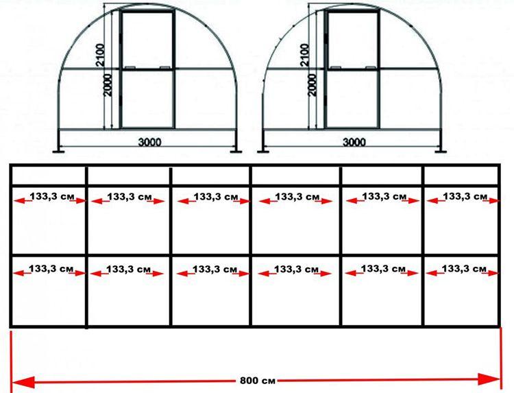 Расчёт необходимого количества металлического профиля производится по схеме