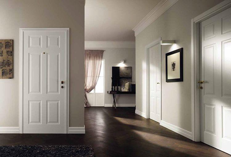 Белые межкомнатные двери смотрятся в любом интерьере